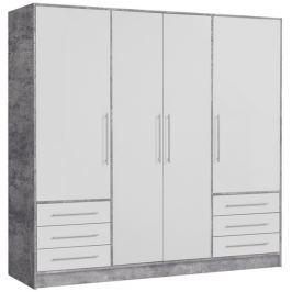 Jupiter, 207 cm, sivý betón / biela
