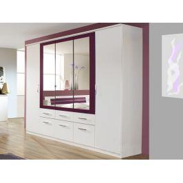 Burano, 225 cm, biela/fialová