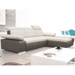 Odessa 2F-OTM, šedá ekokoža/melírovaná tkanina
