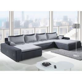 London Max, tvar U, tmavo šedá/svetlo šedá tkanina