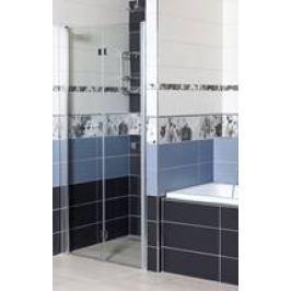 Sprchové dvere Siko SK skladací 90 cm, sklo číre, chróm profil, univerzálny SIKOSK90