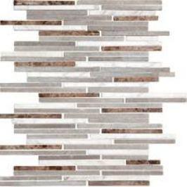 Premium Mosaic Stone Kam. moz.bielo-šedo-hnědé tehly 0,7/14 STMOS7140MIX1