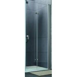 Sprchové dvere Huppe Design Pure skladací 75 cm, sklo číre, chróm profil DPUSD75190CRTP