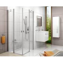 Sprchové dvere Ravak Chrome jednokrídlové 90 cm, sklo číre, satin profil CRV290TS