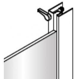 Anima Sklo 100cm Transp + profil, díl B, TEXS NDTEXSB100