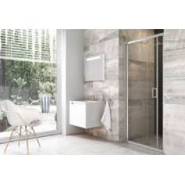 Sprchové dvere Ravak Serie 200 zalamovacia 80 cm, sklo číre, chróm profil BLDZ280TBR