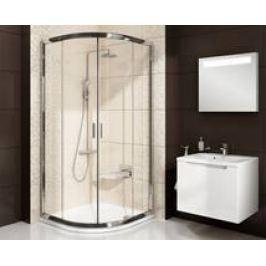 Sprchový kút Ravak Blix štvrťkruh 80 cm, sklo číre, biely profil BLCP480T0