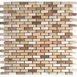 Premium Mosaic Stone Kamenná mozaika krém.-bielé tehly 1/3 STMOS1030MIX1