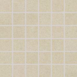 Mozaika Rako Rock slonová kosť 30x30 cm, mat, rektifikovaná DDM06633.1