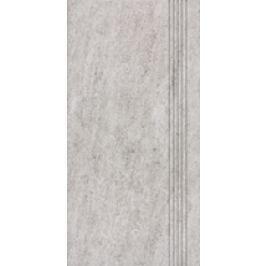 Schodovka Rako Pietra šedá 30x60 cm, mat, rektifikovaná DCPSE631.1