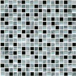 Premium Mosaic Stone Kamen.moz.-MIX šedá-sklo 1,5/1,5 STMOS15MIX1