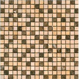 Premium Mosaic Stone Kamen.moz.-MIX krém.- hnedá 1,5/1,5 STMOS15MIX4