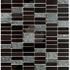 Premium Mosaic Stone Nerez.moz.čierna 4,8/1,5-set 29,8/30,4cm MOS4815BK