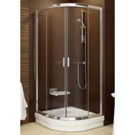 Sprchový kút Ravak Serie 200 štvrťkruh 90 cm, nepriehľadné sklo, biely profil BLCP490G0
