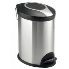 Optima Odpadkový kôš 12 l, nerez, mat KOS12PLOVAL