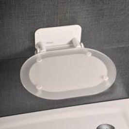 Ravak Sprchové sedadlo OVO Chrome Clear White OVOCHWH