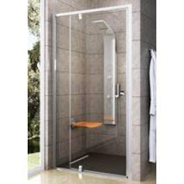 Sprchové dvere Ravak Serie 300 jednokrídlové 100 cm, sklo číre, biely profil PDOP2100T00
