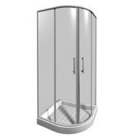 Sprchový kút Jika Lyra plus štvrťkruh 90 cm, R 550, sklo číre, biely profil 5338.2.000.668.1