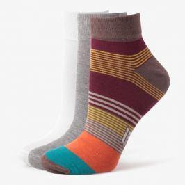 Sizeer Ponožky Quarter 3Ppk Orange Doplnky Ponožky Sisk3501 Doplnky Ponožky Viacfarebná US M