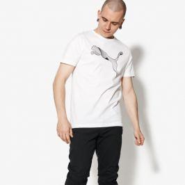 Puma Tričko Ss Cat Logo Tee Muži Oblečenie Tričká 59487602 Muži Oblečenie Tričká Biela US S