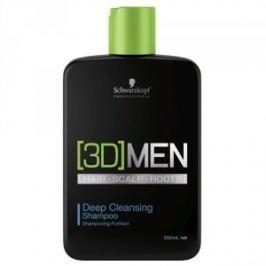 Schwarzkopf Professional Hĺbkovo čistiaci šampón pre mužov 3D (Deep Cleansing Shampoo) 250 ml