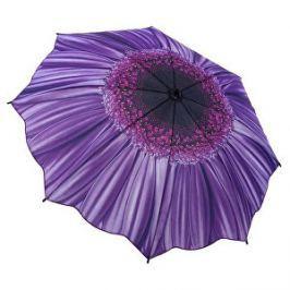 Blooming Brollies Dámsky skladací plne automatický dáždnik Galleria Purple Daisy Floral GFFPD