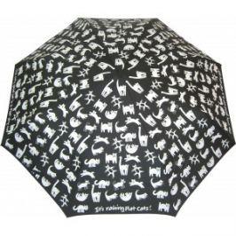 Blooming Brollies Dámsky skladací mechanický dáždnik Flat Cats CFCF