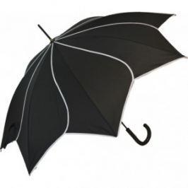 Blooming Brollies Dámsky palicový vystreľovací dáždnik Black Swirl EDSSWBL