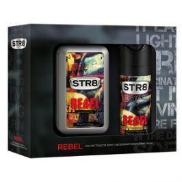 STR8 Rebel - EDT 50 ml + deodorant v spreji 150 ml