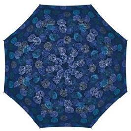 Doppler Dámsky skladací plne automatický dáždnik Magic Hit Roundabout 7440265PR-1-modrý