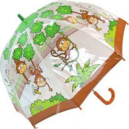 Blooming Brollies Detský priehľadný palicový dáždnik Buggz Kids Stuff Monkey BUMON