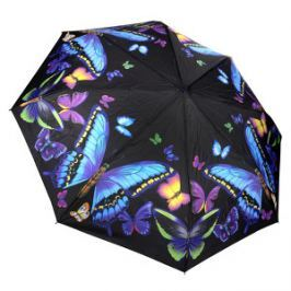 Blooming Brollies Dámsky skladací plne automatický dáždnik Galleria Nature Moonlight Butterflies GBFMB
