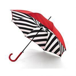 Fulton Dámsky palicový dáždnik Lulu Guinness LG Bloomsbury 2 Diagonal Stripe L723