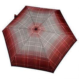 Doppler Dámsky skladací mechanický dáždnik Fiber Havanna Milito červený 722365ML01