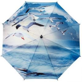 Blooming Brollies Dámsky skladací plne automatický dáždnik Galleria Seagulls GBFSEA