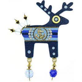 Deers Veľká námornícka brošňa Pepinno II. s kotvou