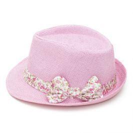 Art of Polo Dámsky letné klobúk s mašľou-ružovobiely cz15161.7 56 cm