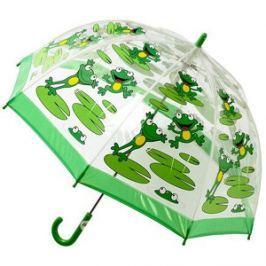 Blooming Brollies Detský priehľadný palicový dáždnik Bugzz Kids Stuff Frog BUFG