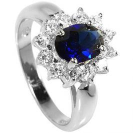 adac0c0d3 Detail zboží · Brilio Silver Strieborný prsteň s modrým kryštálom 5121615S  52 mm