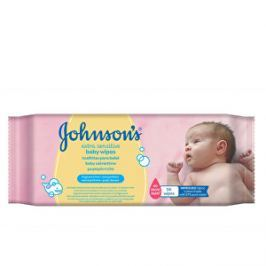 JOHNSON`S Baby Extra jemné vlhčené obrúsky Baby Wipes Extra Sensitive 56 ks