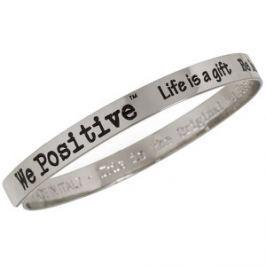 We Positive Kovový náramok FR001 Silver