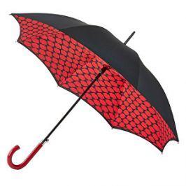 Fulton Dámsky palicový dáždnik Bloomsbury 2 Lips Grid L723