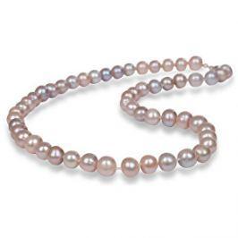 JwL Luxury Pearls Náhrdelník s pravými ružovými perlami JL0266