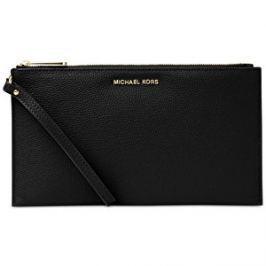 Michael Kors Elegantná čierna kožená kabelka Studio Mercer Large Zip Clutch