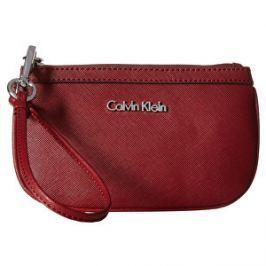 Calvin Klein Elegant nej červená kabelka Saffiano Wristlet
