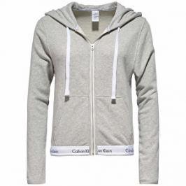 Calvin Klein Dámska mikina Top Hoodie Full Zip QS5667E-020 Grey Heather L