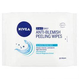 Nivea Hĺbkovo čistiace peelingové obrúsky 3v1 (Peeling Wipes) 20 ks