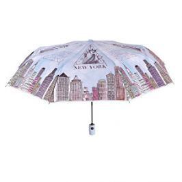Blooming Brollies Dámsky skladací plne automatický dáždnik Perletti New York 25908