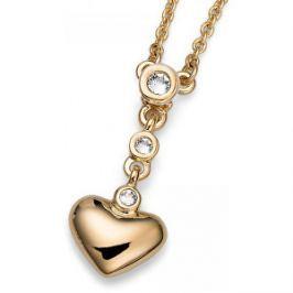 Oliver Weber Romantický pozlátený náhrdelník Beach Home 11709G