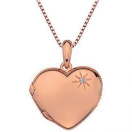 Hot Diamonds Bronzový náhrdelník Memoirs Heart Locket DP496